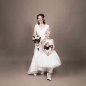 Bröllopsfoto i Studio