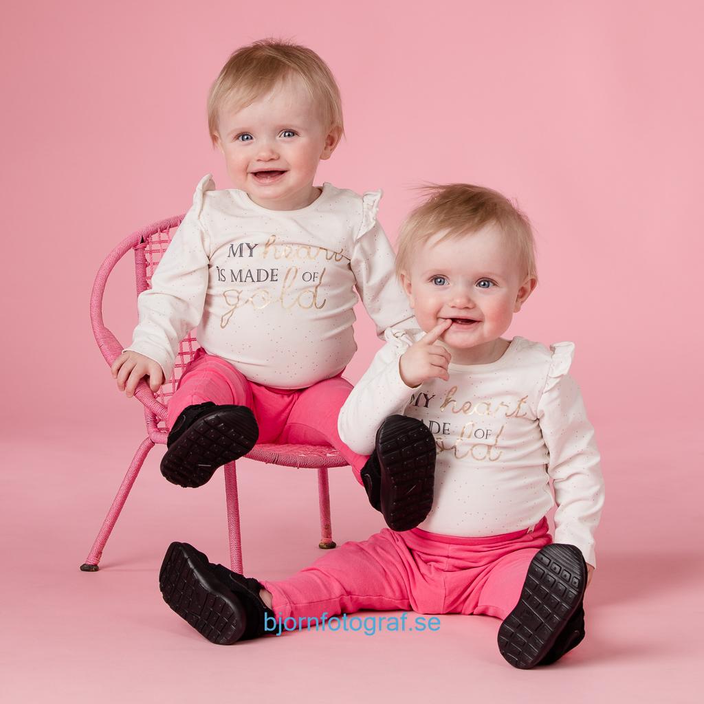 Porträtt tvillingar