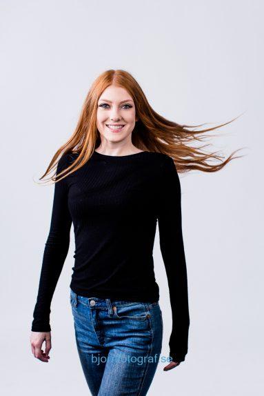 Modellfoto i Stockholm