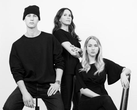 Familjeporträtt Svartvitt